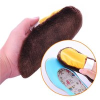 Wholesale Piece Shoe Care Gloves Towel Multifunction Plush Cleaning Cloth for Leather Shoes with Elastic Band