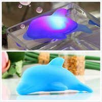 Wholesale Baby Kids Bath Toy LED Dolphin Light Up Toys Lamp Multi Color Flashing Blue Gift