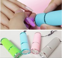 Cheap Wholesale-Portable Mini 9 LED Nail Dryer Gel Nail Polish Curing Lamp Flashlight Torch For UV Gel nail polish dryer Hot Sale