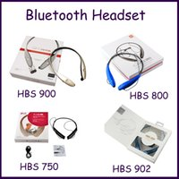 Wholesale HBS900 HBS750 HBS800 HBS902 Wireless Bluetooth Headsets Earphone headphones in stock for iphone Samsung mp3 mp4 CDplayer Universal headset