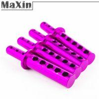 4wd parts - 4pcs Purple Aluminum Body Post Upgrade Parts HSP For th RC WD Car Accessories