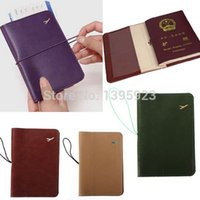 Wholesale Stationery Leather Soft Multicolore Strap Documents Folder Passport Holder Cover Ticket Bag