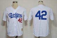 Baseball throwback jerseys - Brooklyn Dodger Jackie Robinson Throwback Baseball Jerseys World Series Champions Home Jersey White Men s Vintage Baseball Wears