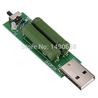 Wholesale Green New USB Interface Mini Discharge Load Resistor with Switch A A Light Indicator