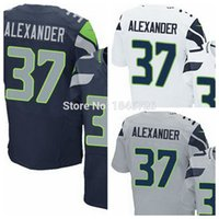 alexander gray - Factory Outlet Shaun Alexander Jersey Men Elite Color White Navy Blue Gray stitched Football Jerseys Embroidery Size M XL