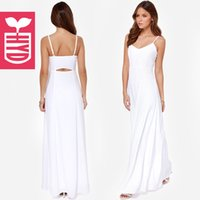 Wholesale Wome summer new suspenders halter big pleated long dress HYD