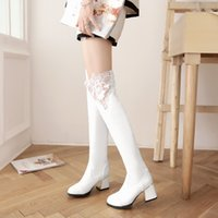 Wholesale Euramerican style high quality sexy lace wedding wedding boots The element of euramerican style knight boots hot