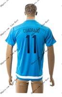 2015-16 Colombia # 11 CUADRADO azul Soccer formación Jersey Tailandia del fútbol de calidad jerseys del balompié barato personalizada Fútbol Acepte la orden de la mezcla