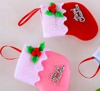 Wholesale mini Christmas stockings super cute cm christmas socks beautiful christmas tree ornaments gifts