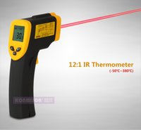 Wholesale Digital Infrared Temperature Temp Gun Thermometer Non Contact IR Laser Point to Degree High Temperature Thermometer