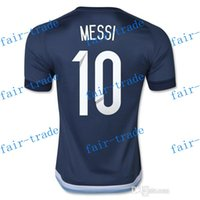 argentina soccer jerseys cheap - Thai Quality Customized Argentina MESSI Away Soccer Jersey new Season Soccer Wears Top Cheap Fashion Football Shirts Tops