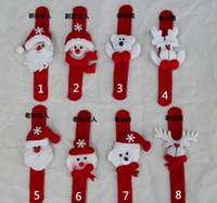 Juguetes de fiesta de Navidad Correa de muñeca Navidad suministros Decoración Pequeño regalo para niños Santa Claus Snowman Deer