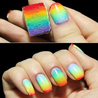 Wholesale Hot Sale Creative Nail Art Tools Gradient Nails Sponges Fade Manicure DIY Nail Accessories Decorations PK0007 Salebags