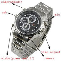 Wholesale Best selling Spy Watch Camera with Motion Detector DVR Motion Detect Cam Hidden Camera Action Camcorder with TF Crad Slot