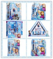 Wholesale Frozen stationery set princess Anna Elsas writing materials pencil pencil sharpener eraser ballpoint pen notebook tablet rule