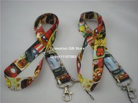 america lanyard - Shipping The Avengers Iron Man Captain America Black Widow Spider Man Polyester Lanyard With Metal Clip