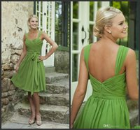 Cheap Custom Made 2015 Free Shipping 30% off Simple Short Bridesmaid Dresses Sweetheart Lime Green Chiffon Cheap Prom Dresses