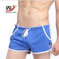 Cheap New Fashion Swimming Swimwear Beachwear Men's Man Boy Swimsuit Trunks Shorts Boxer Brief Slim Pants With Pockets Apparel M L XL 6 Colors