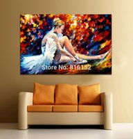 ballet art prints - Beautiful Elegant Ballet Girl Palette Knife Oil Painting Canvas Prints Art For Home Office Cafe Wall Decor