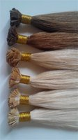 Wholesale 2016 New HOT Selling Flat Tip Brazilian Hair Extension a grade Virgin Remy TOP Quality Peruvian Human Hair