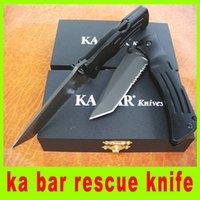 ka-bar - Hot sale ka bar rescue knife blade EDC Tactical knife folding blade survival knife hunting knife christmas gift L
