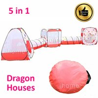 Cheap 5 in 1 Childern Playing Outdoor Pop Up House, Kids Play Game playground equipment, multi-function tent for child exercise toy