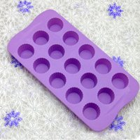 Wholesale 24 Holes FDA Mini Round Silicone Cake Mold Chocolate Fondant Jelly Cookie Muffin Ice Mould Flexible Moulds Cupcake Bake Tools