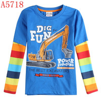 Wholesale winter boys clothing baby long sleeve cotton casual t shirts cartoon print tees shirts children clothes A4553 A4343 A5713D A3213 A5626Y