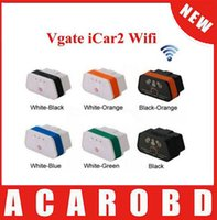 Wholesale 2015 Elm327 Vgate iCar2 WIFI OBD2 OBDII Auto Diagnostic Scanner Tool Newest Version ELM327 Support Both IOS and Android By