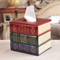antique book cover - Antique Elegant Books Tissue Case Tissue Cover Napkin Box Table decoration