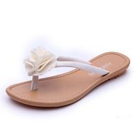 beach slippers women - Summer new Korean casual fashion sweet flowers beach slippers Women slippers flat sandals flip flops