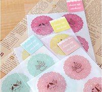 american decorative arts - 4 Style Cute Sweet Transparent Stickers Romantic Lace Printing Stickers Korea Stationery Elegant Unique Decorative Stickers
