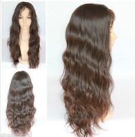cheap full lace wigs - Hot sale virgin brazilian full lace front lace human hair wigs body wave natural color density cheap wigs