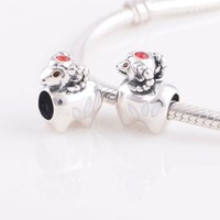 Wholesale Fashion jewelry S925 sterling silver bracelet sheep dangle charm animal charm X255 A6