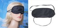 aviation mask - Black Soft Eye Mask Shade Nap Cover Blindfold Sleeping Travel Rest Christmas gift Aviation