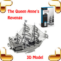 Wholesale New Year Gift Queen Anne s Revenge D Model Metal Collection Craft Handwork Puzzle Game DIY Toys Build For Fun Education Method