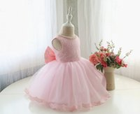 baby dresses special occasions - Discount Baby Infant Halter Pageant Dresses Tutu Ball Gown Flower Girl Dresses Baby Communion Special Occasion FD24