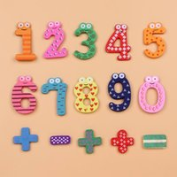 Wholesale Interesting Wooden Fridge Magnets Magnetic Sticker Christmas Toys Sets Children Educational Puzzle Toys ZZC
