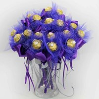 Wedding wedding gifts for guests - 30pcs Wedding Candy Box Rose Flower Design Creative Ferrero Candy Bouquets Wedding Souvenir For Guests Gifts and Favors