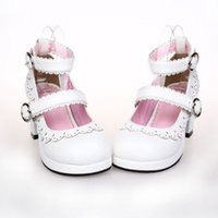 Wholesale Lolita White Lace Dress Shoes Princess Shoes Code