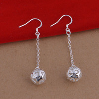balls foreign trade - Foreign trade jewelry plated sterling silver earrings long ball Earrings popular spot