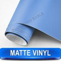 aluminum lighting sheet - Light Blue Matte Vinyl Car Sticker With Air Free Pvc Foil Styling Your Car Size Meter x Meter