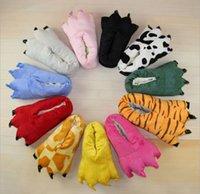 animal print fleece fabric - Cartoon TOTORO Home Shoes Chinchilla Animal Coral Fleece Shoes Animal paw cosplay Shoes