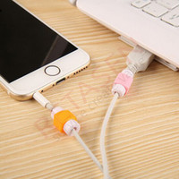 Wholesale Lightning data cable saver candy color charging line protection data cable headset Earphone protector For iPhone s c plus iPad