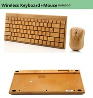bamboo wireless combos - Bamboo Wireless Keyboard Mouse Combos Bluetooth Keyboard for Universal Tablets Computers