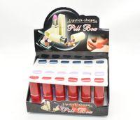 pill box - 2015 whole sale New Secret Lipstick Shaped Stash Medicine Pill Pills Box Holder Organizer Case