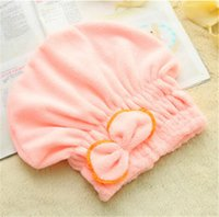Wholesale 2015 Useful Quickly Dry Home Textile Hair Hat Microfiber Hair Turban Wrapped Towel