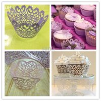 Cupcake Boxes purple cupcake - Hot selling Baking Cupcake wrapper purple white pink surrounding edge cupcakes