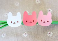 Wholesale Baking package stickers tricolor Bunny gift stickers decorative sticker lable for cake mania