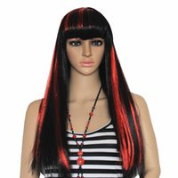 Wholesale A High Quality Fashion Long Straight Full Wig Christmas Halloween Witches Multiple Color Cosplay Party Wigs